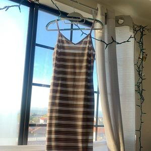Dresses & Skirts - Midi striped spaghetti dress